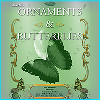 doartes Ornaments and Butterflies  doarte