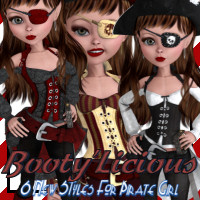 BootyLicious for Pirate Girl 3D Models 3D Figure Essentials JudibugDesigns