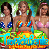 Tropicaliente for Familiar Bikini by Shana