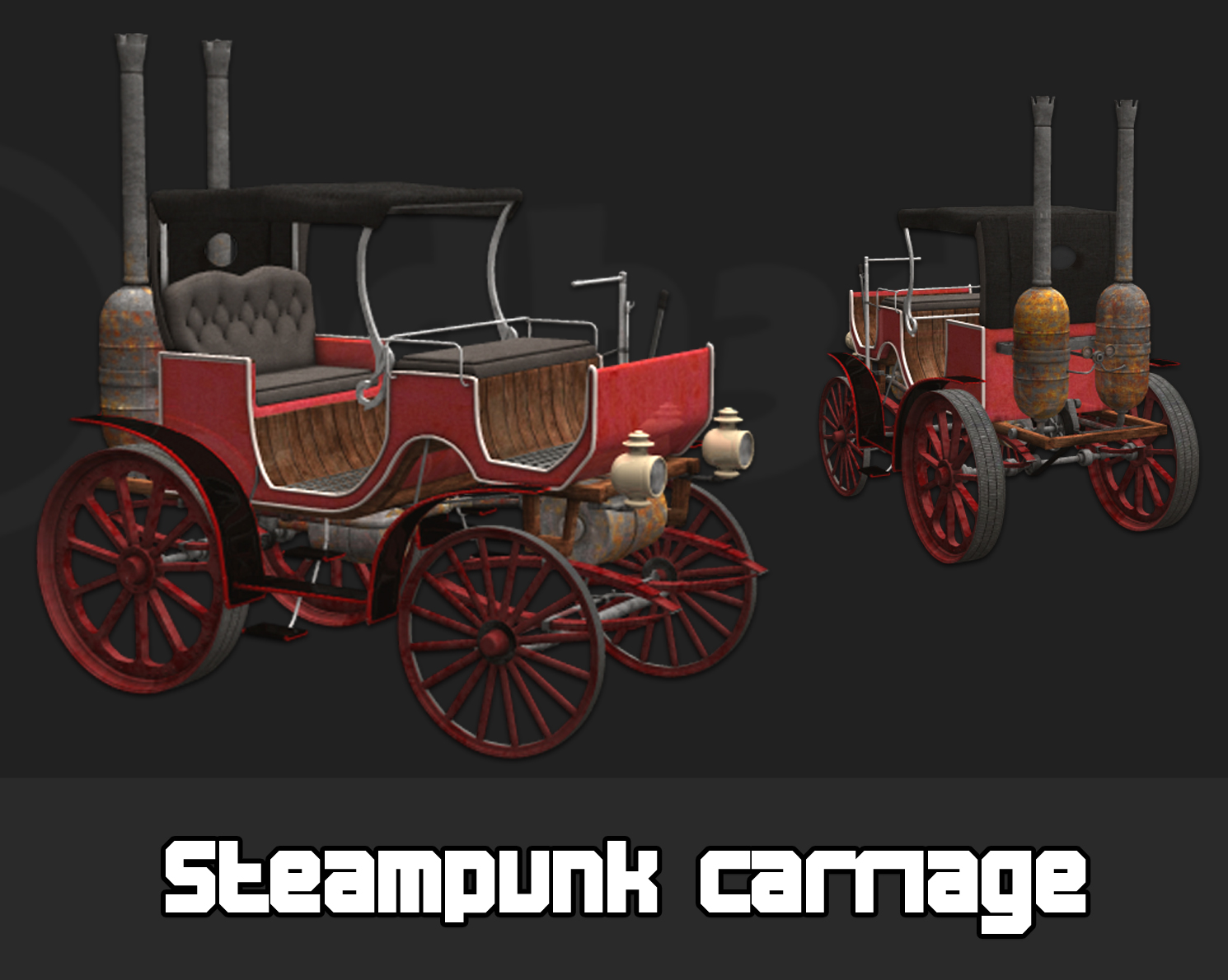 Steampunk carriage
