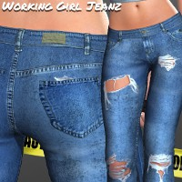 Working Girl Jeanz  3D Figure Essentials 3D Models Imaginary_House