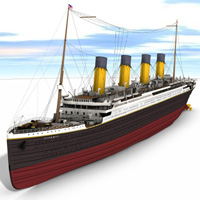 Titanic (for Poser) 3D Models Digimation_ModelBank