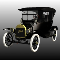 FORD T TOURING 1918 Themed Transportation Props/Scenes/Architecture Nationale7