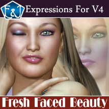 Fresh Faced Beauty: 50 Expressions For V4 Poses/Expressions Themed Software EmmaAndJordi