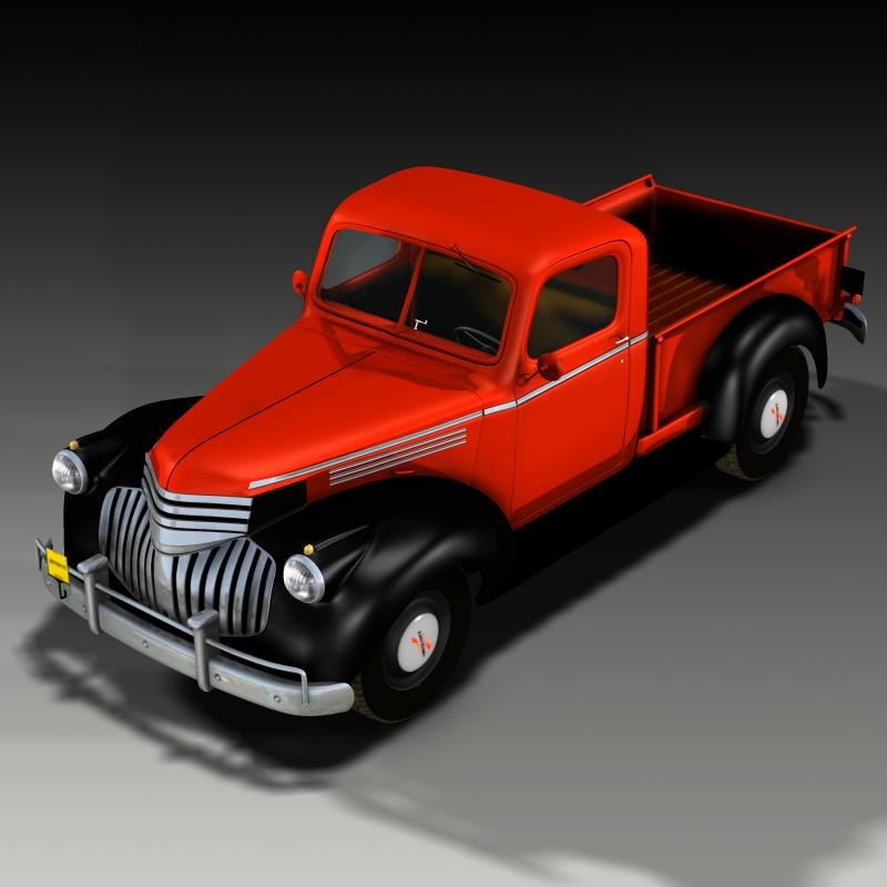 Chevrolet Pick Up 1946 3d Models Ourias3d