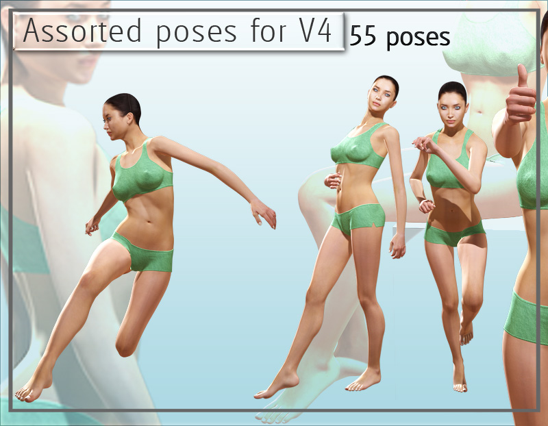 Assorted Poses for V4
