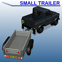 Small Trailer 3D Models Simon-3D