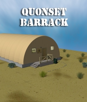 Military Quonset Barrack 3D Models greenpots