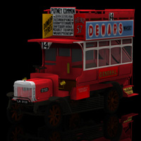 1910 B Type Bus (for Poser) Transportation Themed Digimation_ModelBank