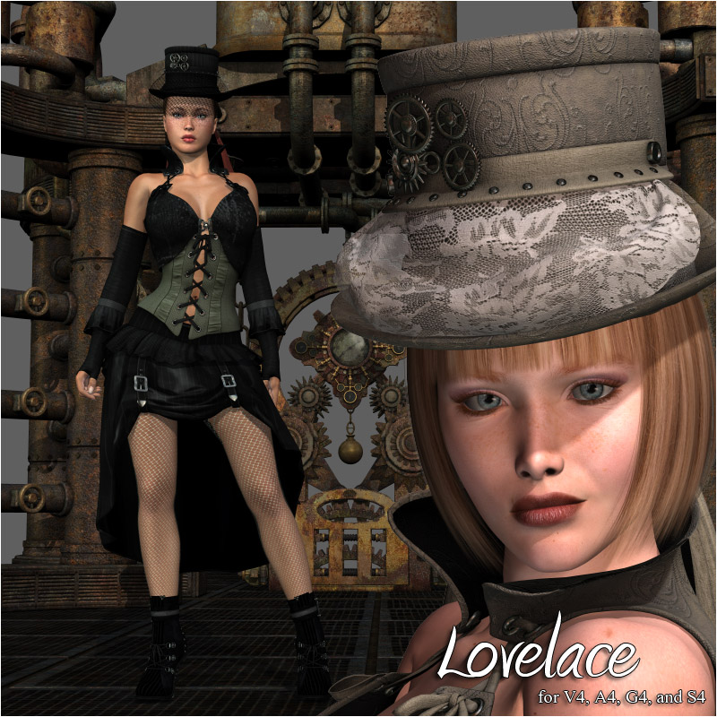 Steampunk Lovelace Clothes V4, A4, G4 by RPublishing