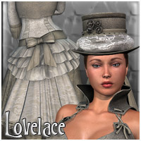 Steampunk Lovelace Clothes V4, A4, G4 Themed Clothing RPublishing