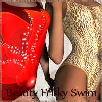 Beauty Frisky Swim 3D Figure Essentials Prematos