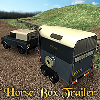 Horse Box Trailer Themed Animals Simon-3D