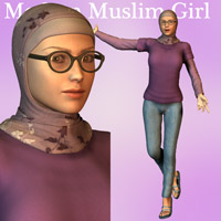 Modern Muslim Girl 3D Figure Essentials Oskarsson