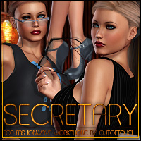 Secretary for FASHIONWAVE Workaholic 3D Figure Essentials ShanasSoulmate