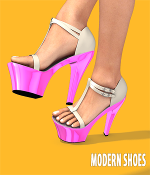 Modern Shoes Collection 3D Figure Essentials hameleon