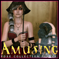 Amusing Pose Collection for V4 Characters Poses/Expressions Themed ironman13