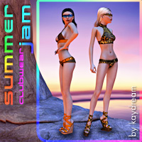 Summer Jam clubwear 3D Figure Essentials 3D Models kaydream