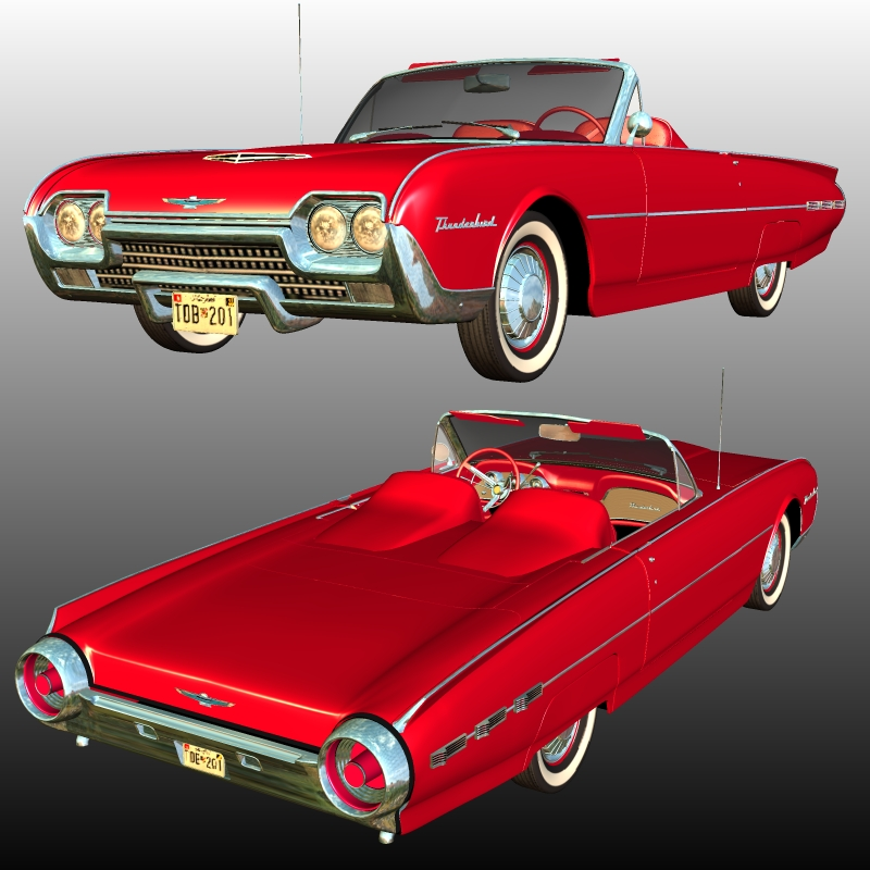 Ford Thunderbird 1962 Sports Roadster by 3DClassics
