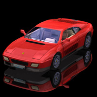 Ferrari 348T (for Poser) 3D Models Digimation_ModelBank