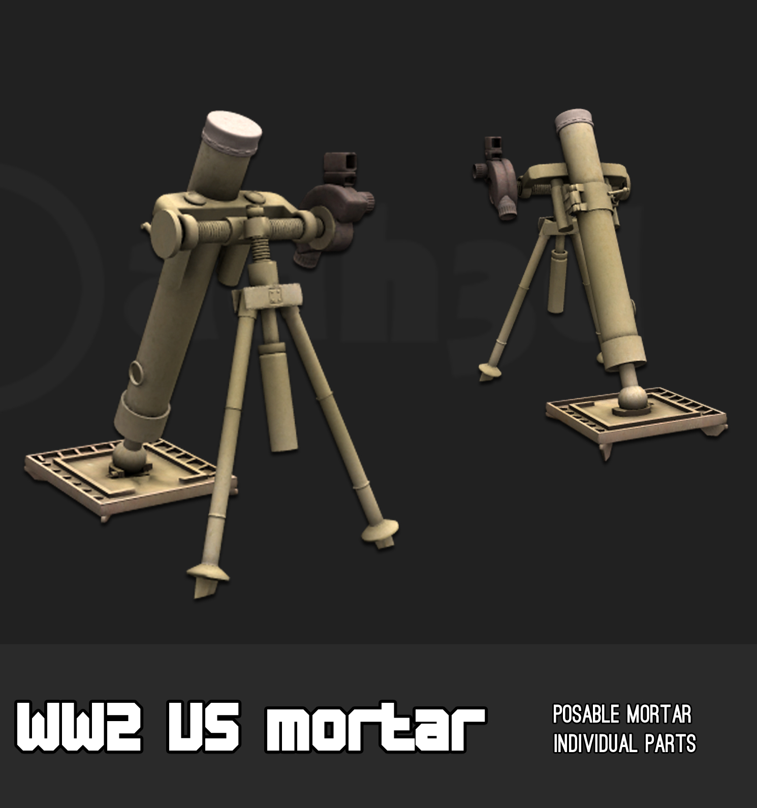WW2 US mortar