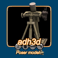 WW2 US mortar 3D Models adh3d