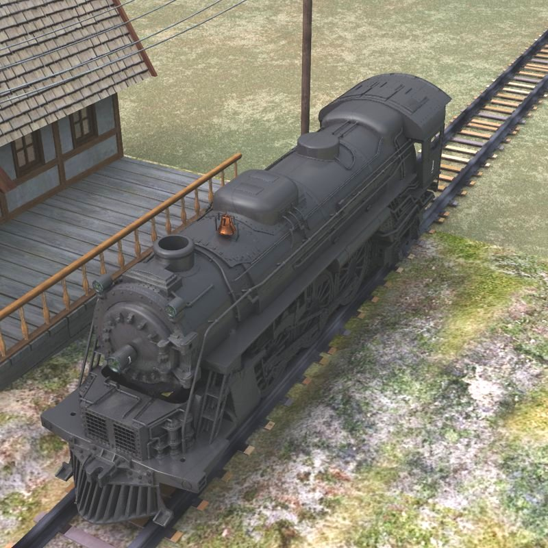 Steam Locomotive 2-6-4 (for Vue)