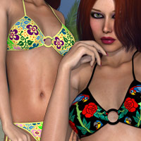 Heat for Familiar Bikini 3D Models 3D Figure Assets kaleya
