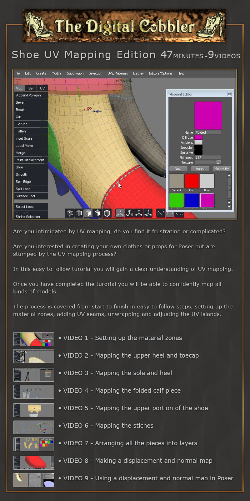 The Digital Cobbler UV Mapping Shoes Set