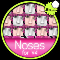 Biscuits Noses for V4 Software Morphs/Deformers Characters Poses/Expressions Biscuits