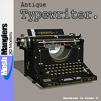 Antique Typewriter 3D Models keppel