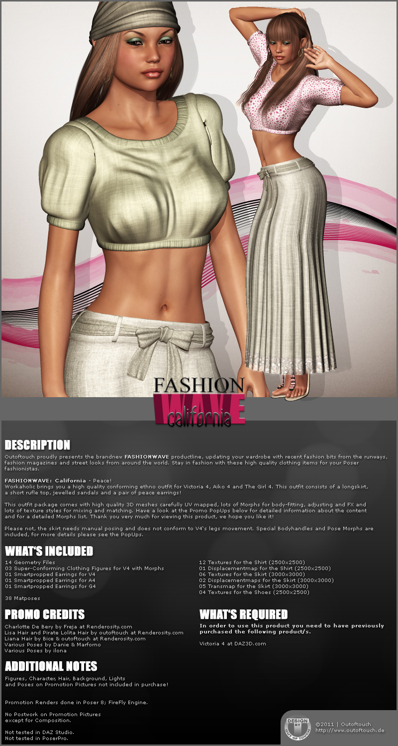 FASHIONWAVE California for V4 A4 G4