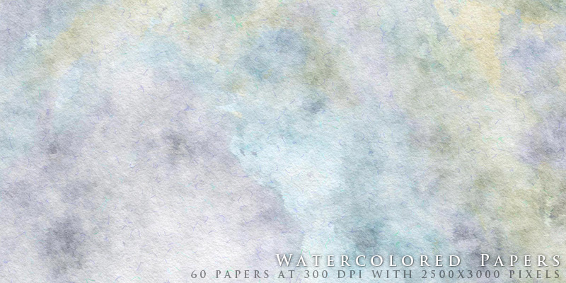 Watercolored Papers by designfera