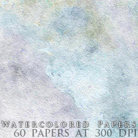 Watercolored Papers 2D Graphics designfera