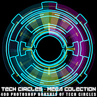 Tech Circles - MegaCollection 3D Models 2D Graphics designfera