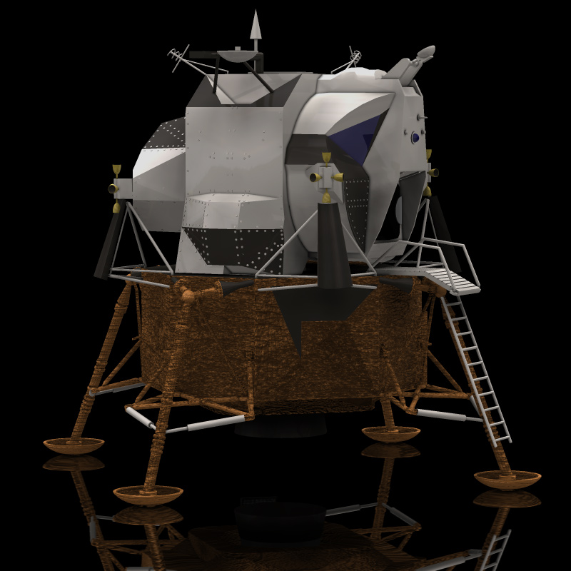 Eagle Lunar Lander (for Poser)