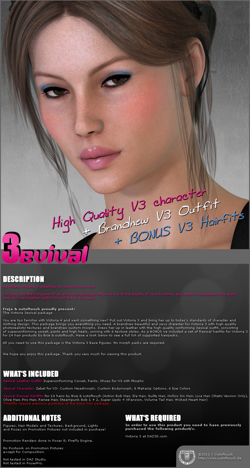 Victoria 3evival - Character and Clothing for V3 by outoftouch