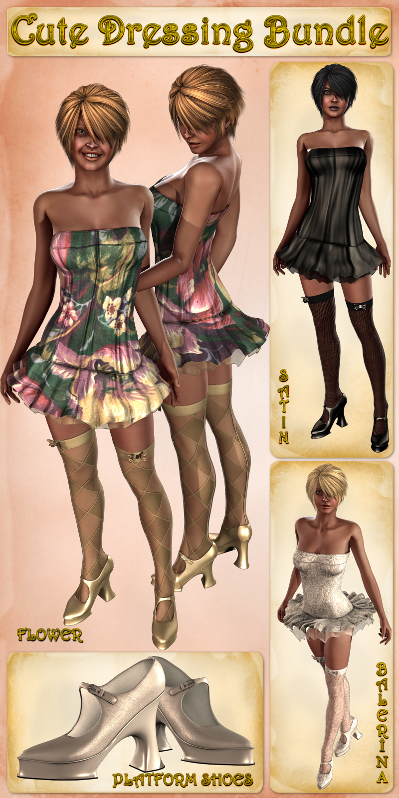 Cute Dressing Bundle (V4.2 Elite,Aiko4)