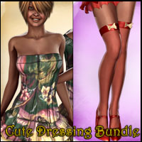 Cute Dressing Bundle (V4.2 Elite,Aiko4) 3D Figure Assets jasmina