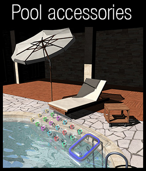 Luxury Pool Accessory Set 3D Models 2nd_World