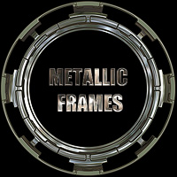 Metallic Frames 2D And/Or Merchant Resources Themed designfera