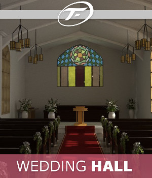Wedding Hall 3D Models TruForm
