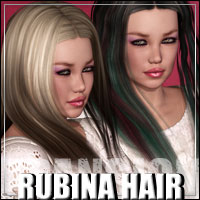 Rubina Hair XPansion 3D Figure Assets 3D Models outoftouch