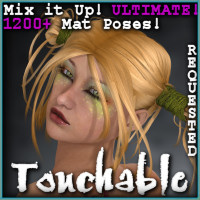 Touchable Dark Wolf Hair Themed -Wolfie-