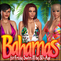 Bahamas for Frisky Swim III 3D Figure Essentials ShanasSoulmate