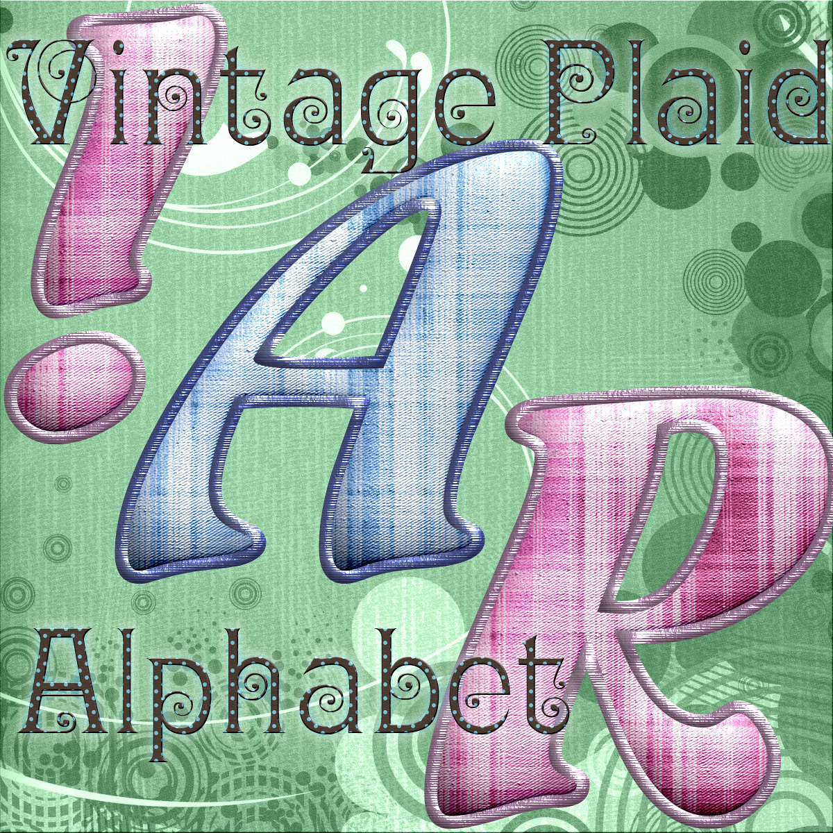 Harvest Moons Vintage Plaid Alphabet