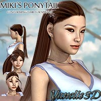 Miki3 PonyTail 3D Figure Essentials Yanelis3D