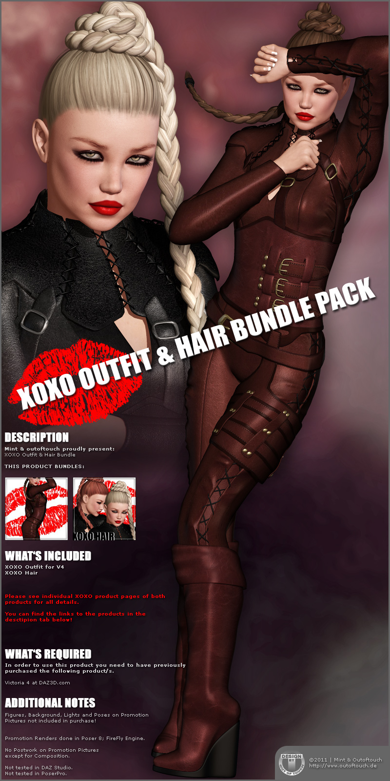 XOXO Outfit & Hair Bundle