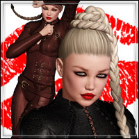 XOXO Outfit & Hair Bundle 3D Figure Assets outoftouch