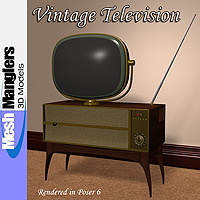 Vintage TV 3D Models keppel